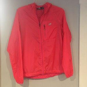 New balance lightweight coral zip jacket